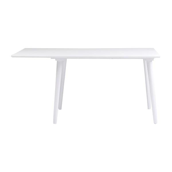 Bílý jídelní stůl z masivního dubového dřeva Folke Lotte Leaf, 120x80cm