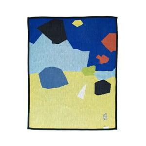 Pletená přikrývka The Wild Hug Geometric Puzzle, 80 x 110 cm