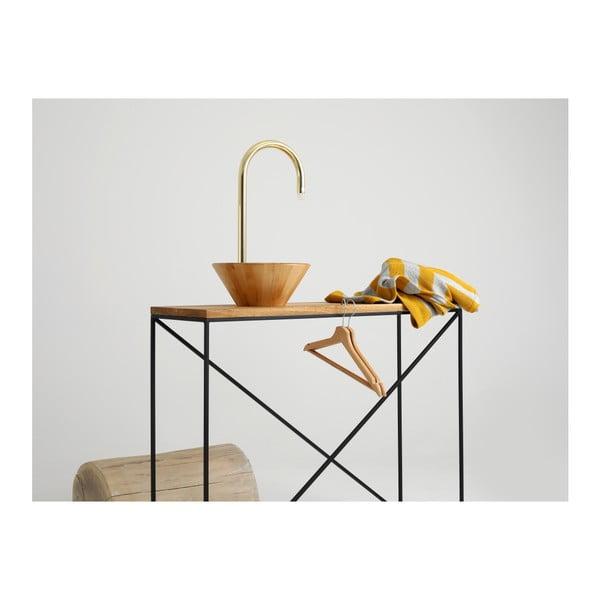 Consolă cu blat din lemn de stejar Custom Form Memo, lungime 100 cm, negru-natural