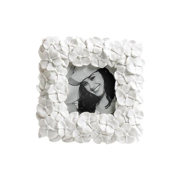 Fotorámeček Flower White, 13x13 cm