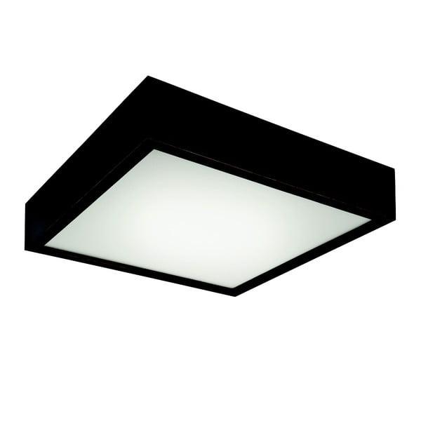 Čierne štvorcové stropné svietidlo Lamkur Plafond, 37,5 x 37,5 cm