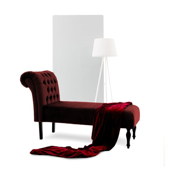 Șezlong Vivonita Nellie, roșu închis