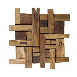 Nástěnná dekorace  z teakového dřeva HSM collection Wade