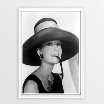 Poster cu ramă Piacenza Art Audry Hat, 30 x 20 cm de la Piacenza Art