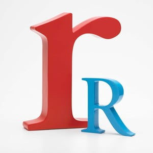 """Malé """"r"""" 17x14 cm, červená"""