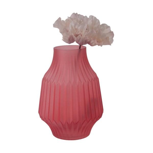 Růžová skleněná váza PT LIVING, Ø 13,5 cm