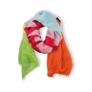 Šátek Remember Stripy Green, 190x70 cm