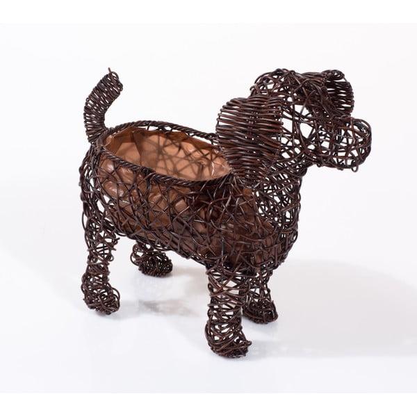 Dekorativní ratanový květináč Dog