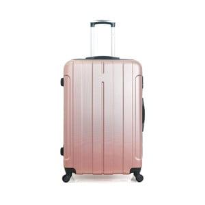 Cestovní kufr v barvě růžového zlata na kolečkách Hero Fogo, 93 l