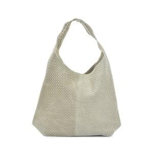 Béžová kožená kabelka Mangotti Bags Abelie