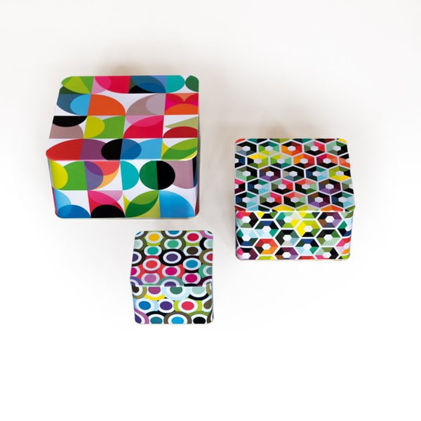 Sada 3 cínových krabiček Remember Cubes