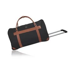 Černá cestovní taška na kolečkách GENTLEMAN FARMER Oslo, 40 l