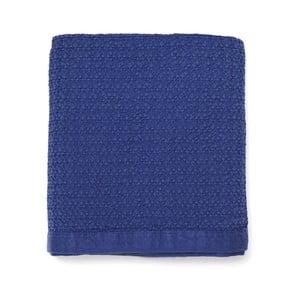 Modrý přehoz přes postel z čisté bavlny Casa Di Bassi, 150 x 200 cm