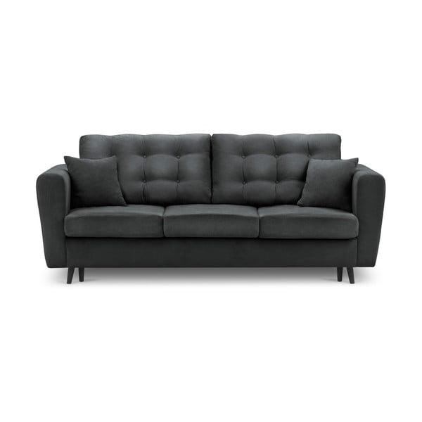 Chillout sötétszürke kinyitható kanapé tárolóval - Kooko Home
