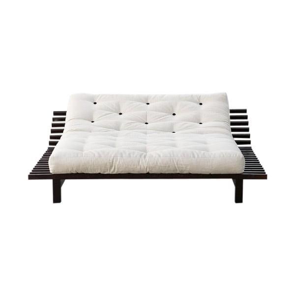 Rozkladacia posteľ z borovicového dreva Karup Design Blues, 200×200 cm
