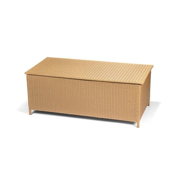 Záhradný box s úložným priestorom v hnedej farbe Timpana Galaxy 159 x 79 cm