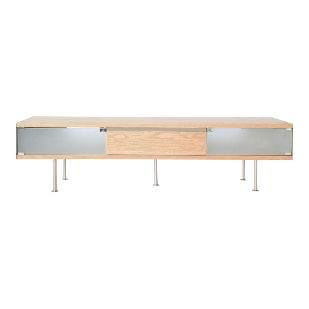 TV stolek s detaily z dubové dýhy RGE Frank, šířka 180 cm
