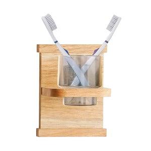 Suport din lemn de nuc pentru periuțe de dinți Premier Housewares
