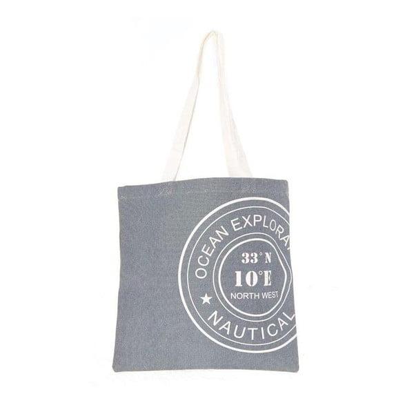 Plážová plátěná taška Grey