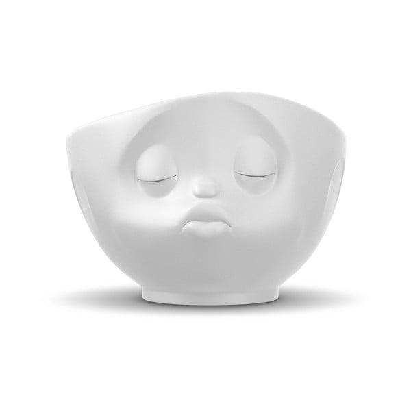 Matně bílá porcelánová líbající miska 58products