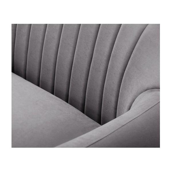 Tmavě šedá rohová trojmístná pohovka Scandi by Stella Cadente Maison Comete, levý roh