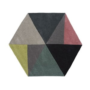 Vlněný koberec Sato Lime, 150x130 cm