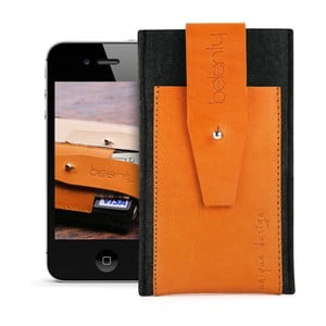 Pouzdro na iPhone 4 Exclusive Cognac