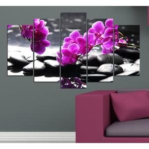 5dílný obraz Orchidej