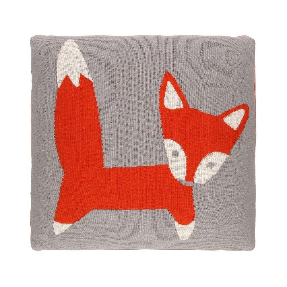 Oboustranný polštář Art For Kids Foxy, 35 x 35 cm