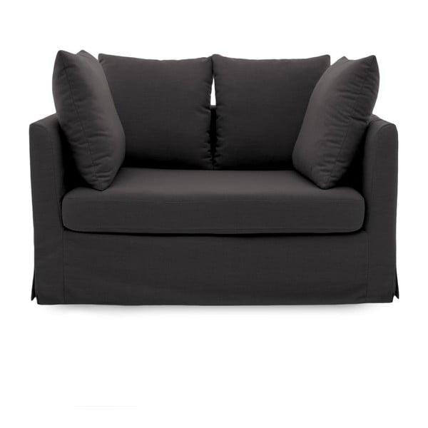 Antracytowa sofa dwuosobowa Vivonita Coraly