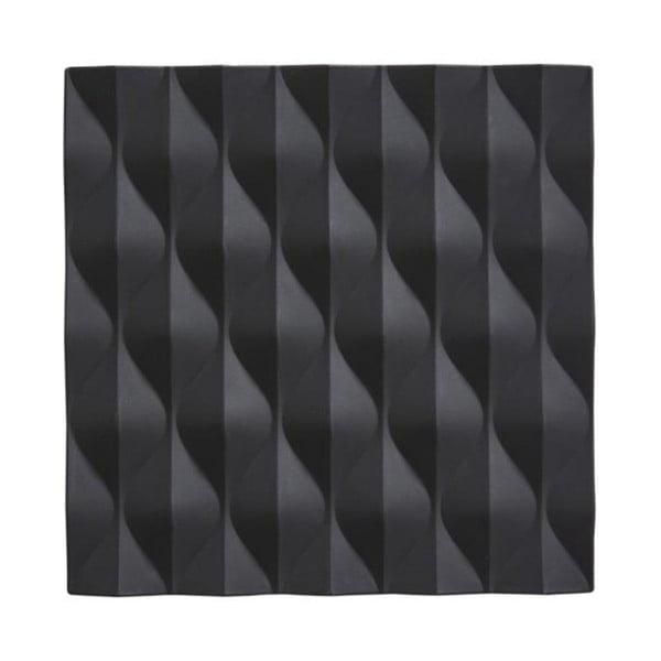 Origami Wave fekete szilikon edényalátét - Zone