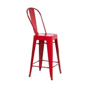 Červená barová židle D2 Paris