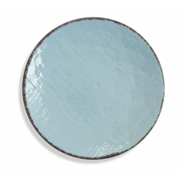 Sada 6 světle modrých talířů z kameniny Villad'Este Canapa