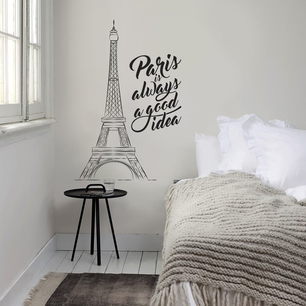Samolepka na zeď Paris is..., 70x50 cm