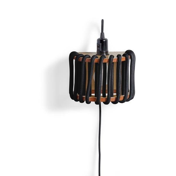Aplică din lemn EMKO Macaron, lungime 20 cm, negru