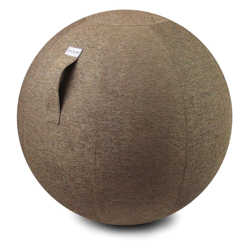 Světle hnědý sedací míč VLUV Stov, Ø 70 - 75 cm