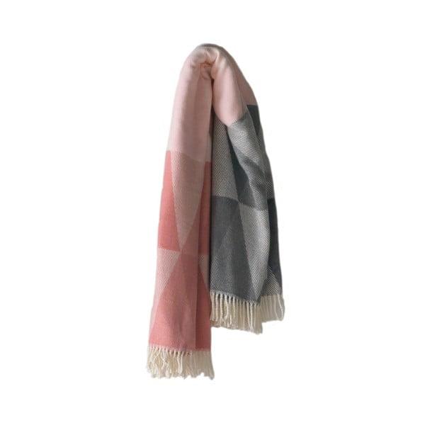 Růžový pléd s podílem bavlny Euromant Pisa, 140x180cm