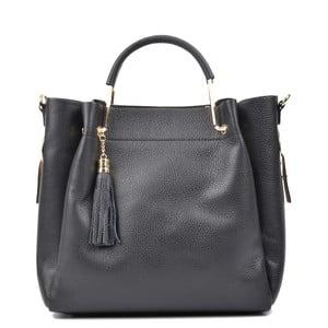 Černá kožená kabelka Carla Ferreri Zita