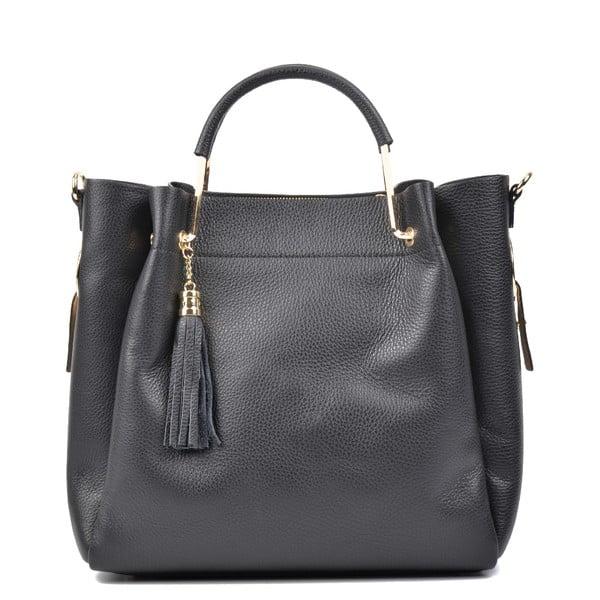 Čierna kožená kabelka Carla Ferreri Zita