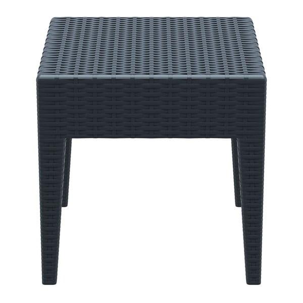 Stůl Miami Lounge Side, tmavě šedý