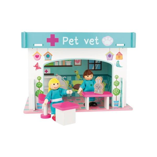 Detská drevená veterinárna stanica Legler Playhouse Animal Hospital