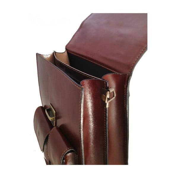 Kožený kufřík Verdicchio, tmavě hnědý