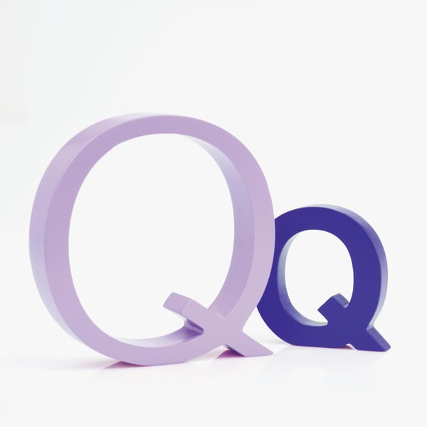 "Velké ""Q"" 13x13 cm, levandulová"