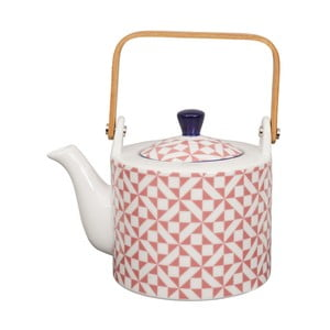 Růžová porcelánová čajová konvice Tokyo Design studio, 0,8 l