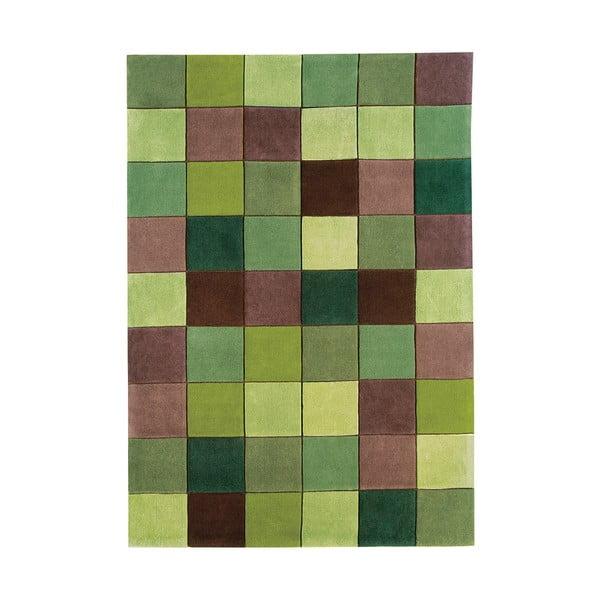 Koberec Asiatic Carpets Eden Pixel Green, 160x230 cm