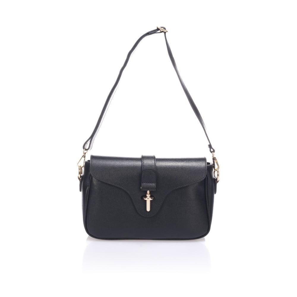 Černá kožená kabelka Markese Tulisa