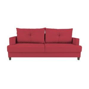 Červená rozkládací třímístná pohovka Mel Art Lorenzo