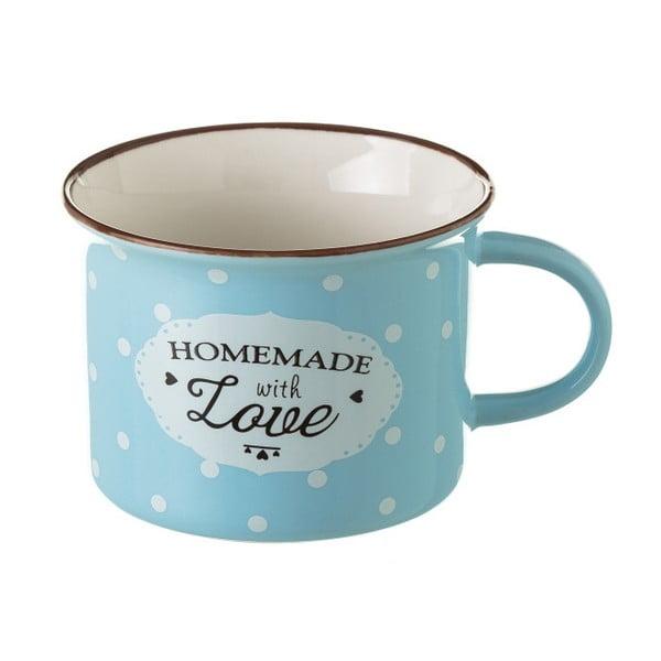 Niebieski kubek porcelanowy Unimasa Homemade, 170ml