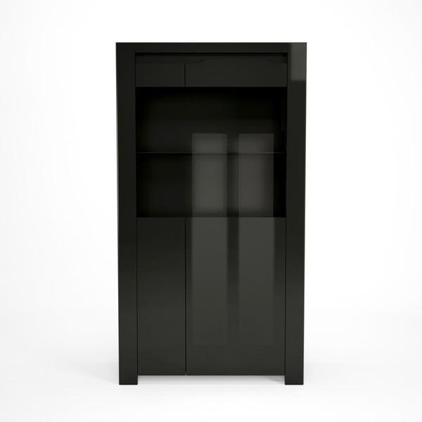 Čierna vitrína Artemob Orlando, 92×168 cm