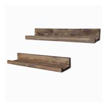 Set 2 rafturi din lemn pentru perete Simple